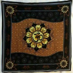 "Other - 36"" x 36"" Om Lotus altar cloth"